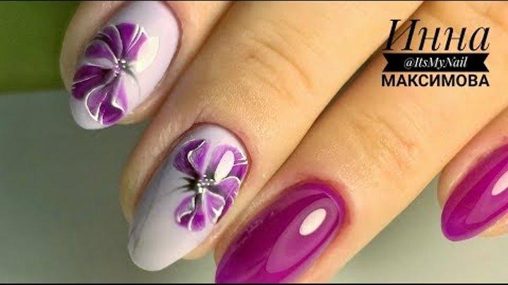 ❤ ПОЛЕЗНАЯ информация для МАСТЕРОВ и КЛИЕНТОВ ❤ рисуем ЦВЕТОК на ногтях ❤ ДИЗАЙН ногтей гель лаком ❤