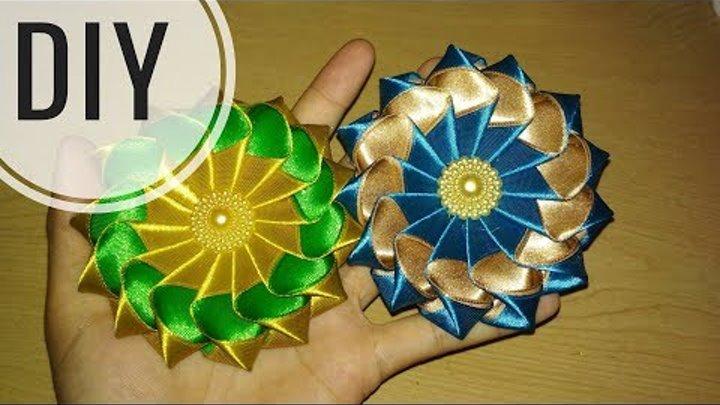 DIY    Cara Membuat Kanzashi Flower 03 🌸 - Tutorial Bros Simple by Lista Tsurayya