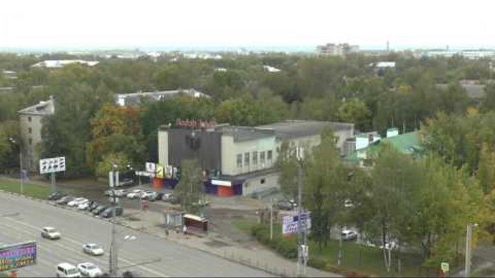 Виды города Иваново. Кинотеатр Лодзь с птичьего полета