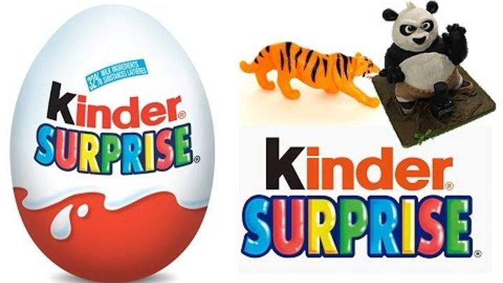Киндер Сюрприз животные, супергерои, кунфу панда распаковка игрушек Animal Planet Kinder Surprise to