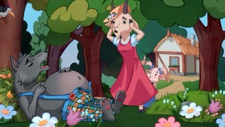Волк И Семеро Козлят - Сказка Анимация Для Детей На Ночь ♦ #сказка