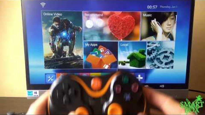 Как подключить джойстик на смарт тв приставке Android TV Box.Инструкция