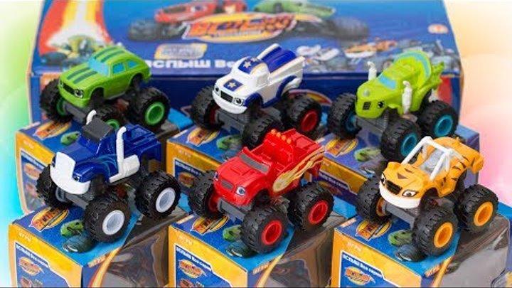 Распаковка игрушек Вспыш и Чудо Машинки Развивающие мультики для детей про машинки Unboxing