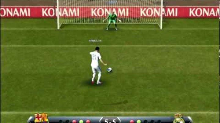 PES 2013 - Penalty Shootout [Real Madrid vs Barcelona]