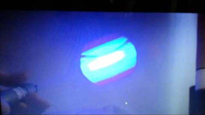 Синий лазер демонстрация