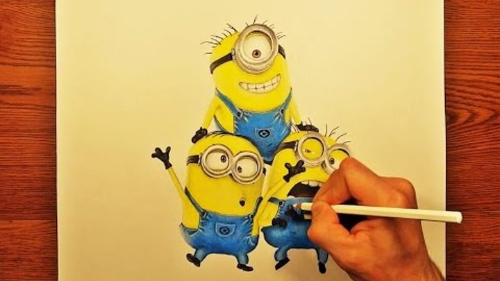Speed Drawing: How to Draw A Minions (Despicable Me) 2015
