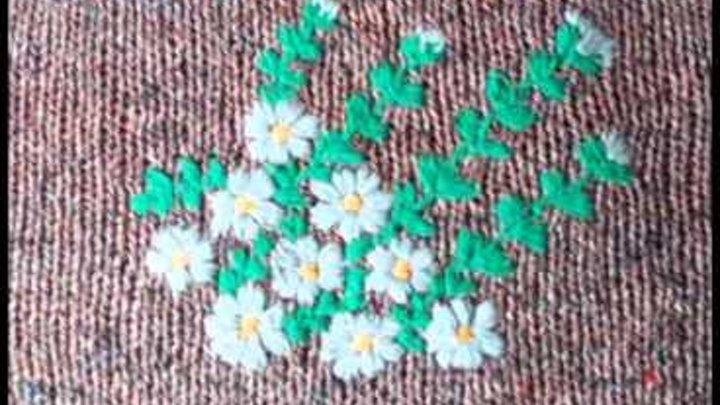 рисунки для вышивки по вязаному полотну