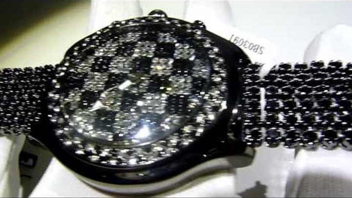 """$175 Lab Made ICED Black/White Diamond """"The Game"""" Watch with bubble lens-Lab Made Jewelry"""