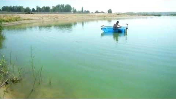 Лодка из сотового поликарбоната +эл мотор 2 Boat made of cellular polycarbonate
