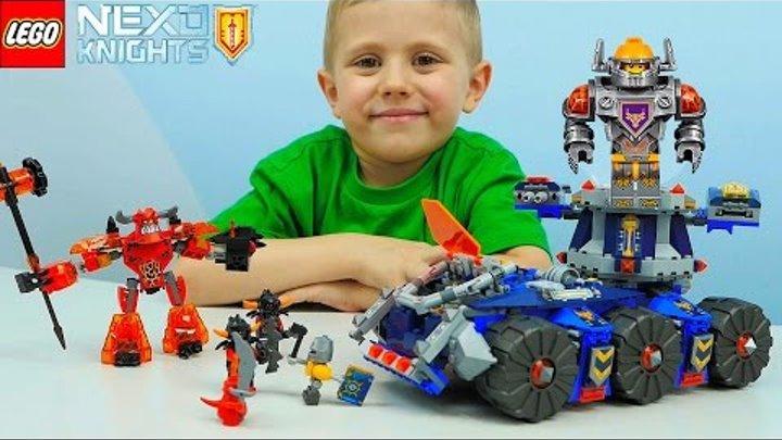 Лего Нексо Найтс Башенный тягач Акселя - Детское видео. Nexo Knights Axl's Tower Carrier 70322
