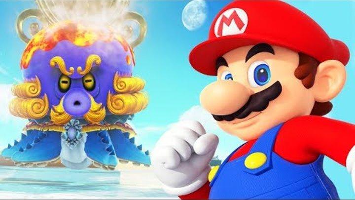 Super Mario Odyssey БОСС ГОЛОВАСТИК и Пляжное царство Прохождение игры СУПЕР МАРИО ОДИССЕЙ