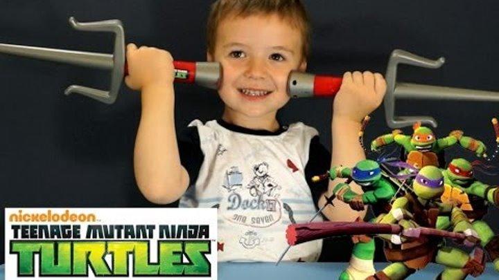 Оружие Черепашек Ниндзя. Игрушки Черепашки ниндзя. Игрушки для мальчиков. Детские игрушки. Мультик