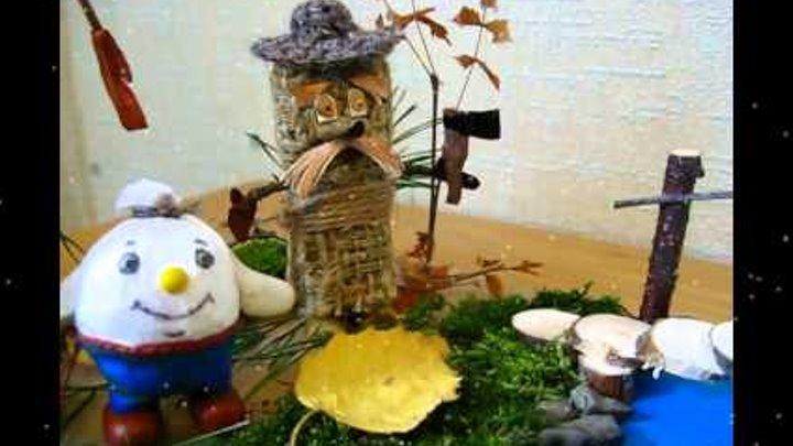 Осенняя поделка для детского сада (Три дровосека)