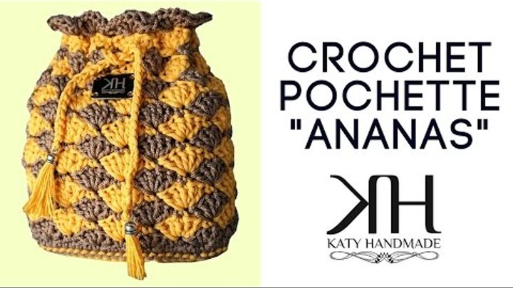 Tutorial Pochette Ananas Uncinetto How To Make Crochet Bag