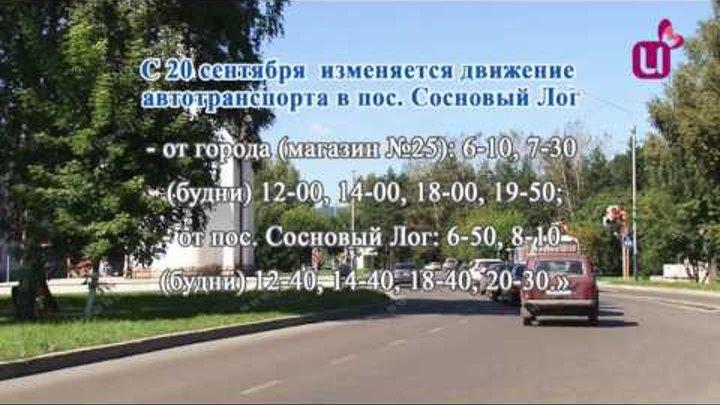 Расписание автобусов в Сосновый Лог изменилось
