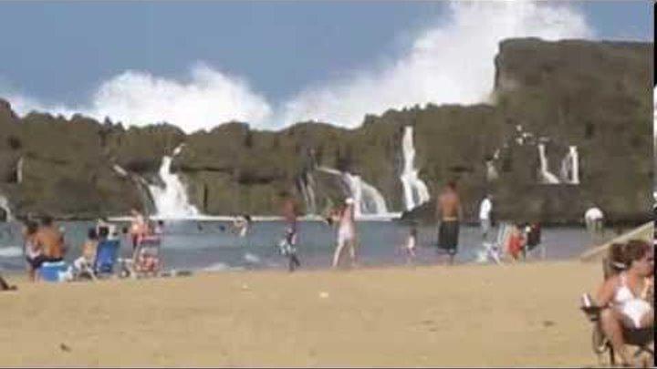 Защищённый пляж в Пуэрто Рико