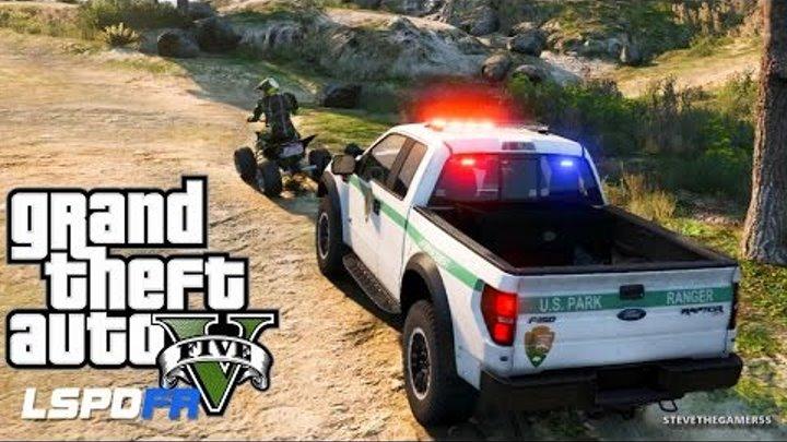 GTA 5 LSPDFR EPiSODE 106 - LET'S BE COPS - PARK RANGER PATROL (GTA 5 PC  POLICE MODS)