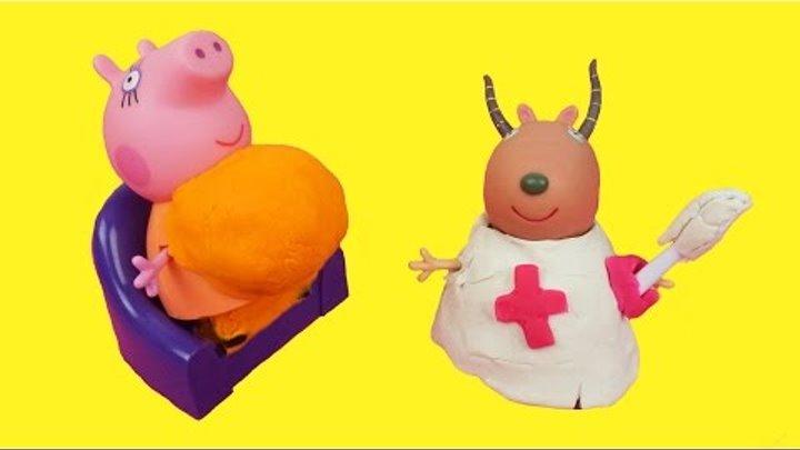 Свинка Пеппа Беременная мама свинка родила Мультик с игрушками Peppa Pig