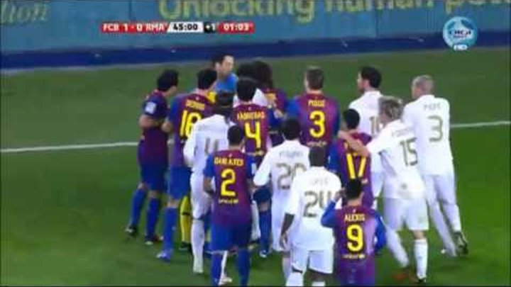 El Clasico - Real Madrid vs. Barcelona // Most Heated Moments { Fights, Brawls, Fouls }