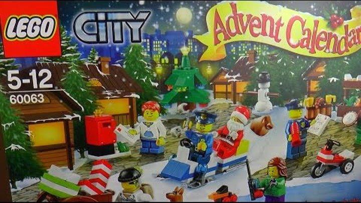 Лего Сити Новогодний Календарь Лего Сить 2014 Обзор Lego City 60063