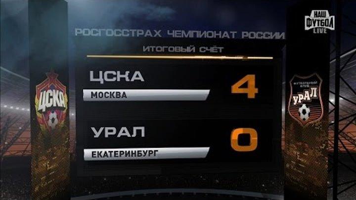 Обзор матча: Футбол. РФПЛ. 17-й тур. ЦСКА - Урал 4:0