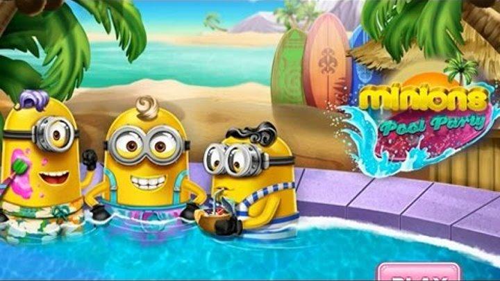 NEW Игры для детей—Disney Миньоны в бассейне—Мультик Онлайн Видео Игры для девочек
