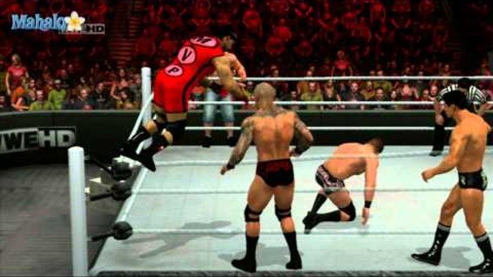Smackdown Vs Raw 2011 - Road to Wrestlemania - John Cena Handicap Match Part 2