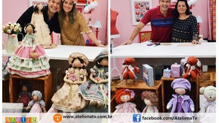 Ateliê na TV - Rede Brasil - 09.06.16 - Millyta Vergara e Elizangela Rodrigues