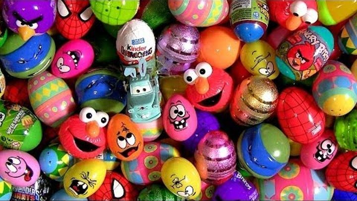 150 Giant Surprise Eggs Kinder CARS StarWars Marvel Avengers LEGO Disney Pixar Nickelodeon Peppa