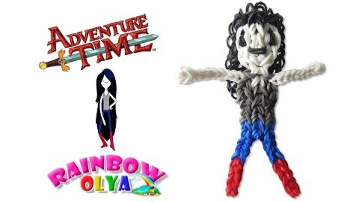 МАРСЕЛИН - Время Приключений из резинок на рогатке | Marceline Adventure Time Rainbow Loom