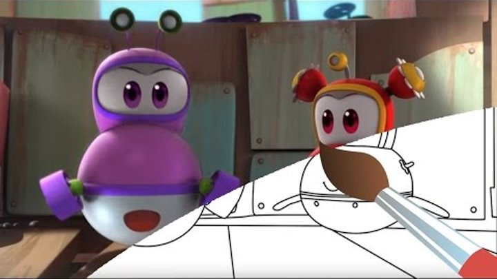 Мультика - раскраска - Марин и его друзья - Сон в летнюю ночь - развивающее видео для детей