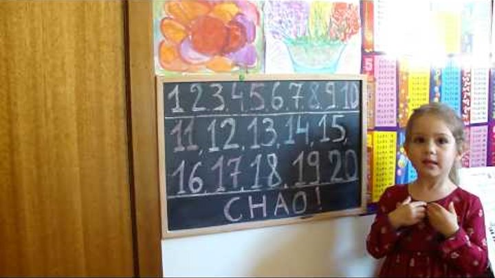 Learning numbers in Italian 1-20!.Imparare i numeri in 1-20 italiano!Like & Subscribe for more!!