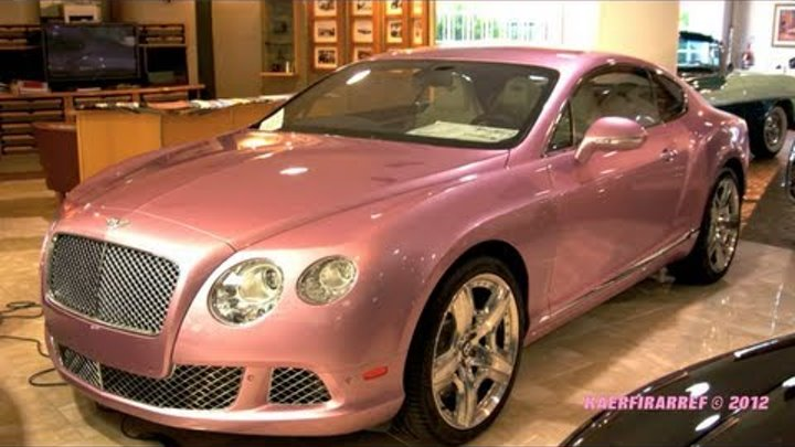 2012 Factory PINK Bentley and Rare RED Lamborghini Superleggera