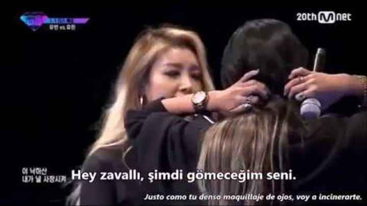 [TR SUB] Unpretty Rapstar Vol2 Yubin vs Hyorin Diss Battle Turkish Sub./Türkçe Altyazılı