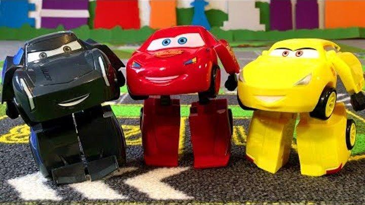 Тачки 3 Трансформеры Мультики про Машинки Игрушки Джексон Шторм Молния Маквин