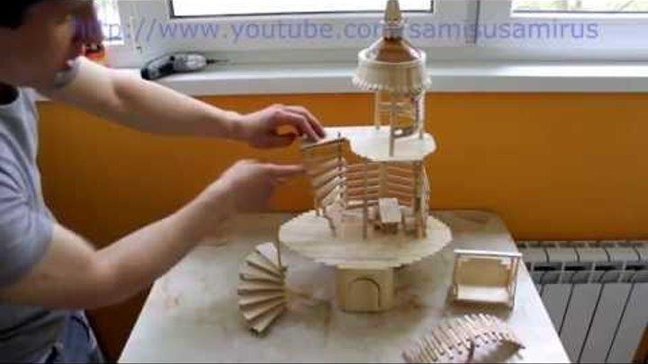 Кукольный домик из палочек от мороженного