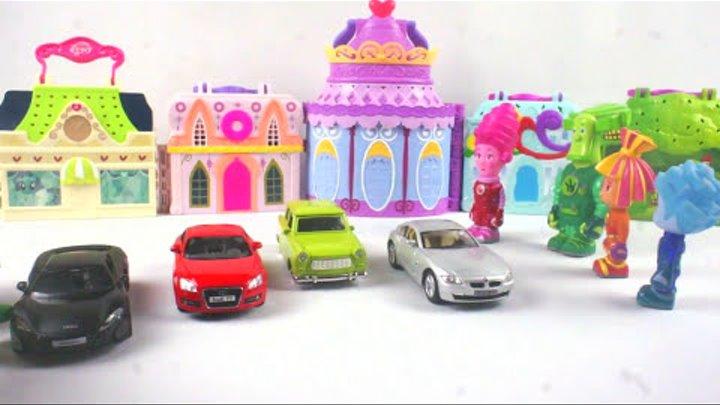 Видео для детей. Игрушки #Фиксики: покупают машину в автосалоне!