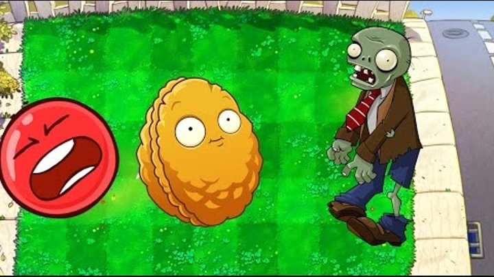 КРАСНЫЙ ШАР НАПАЛ НА ЗОМБИ ПРОТИВ РАСТЕНИЙ Яркокрасный Шарик Plants vs zombies Red Ball 4 Мультик .