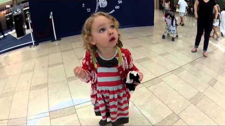 The first time, little American girl hears the sound of moslem call to prayer