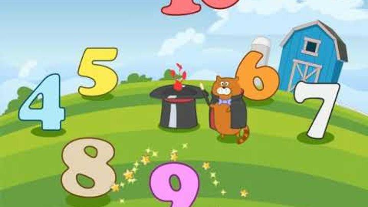 Учись считать - Ферма Чисел - Детские мультики про животных- развивающие детские песни мультики