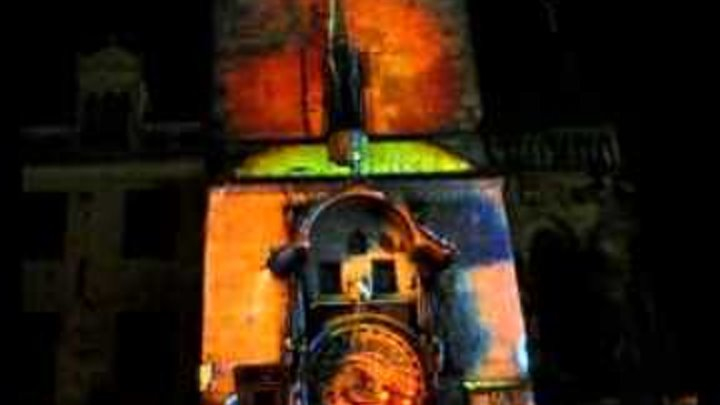 Prague Astronomical Clock Video Mapping (October 2010 Version)