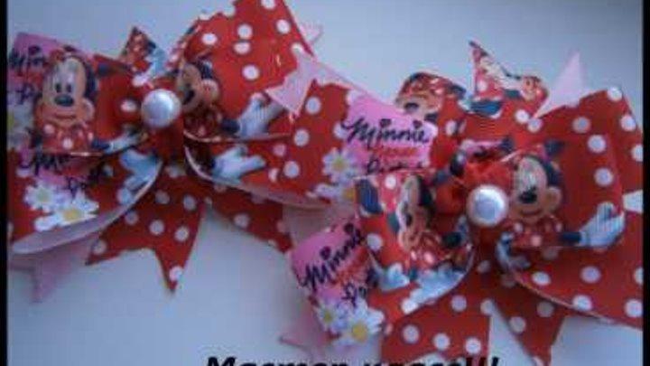 Минни Маус Банты для Детей, Американские бантики /Minnie mouse Bows for Kids, American bows