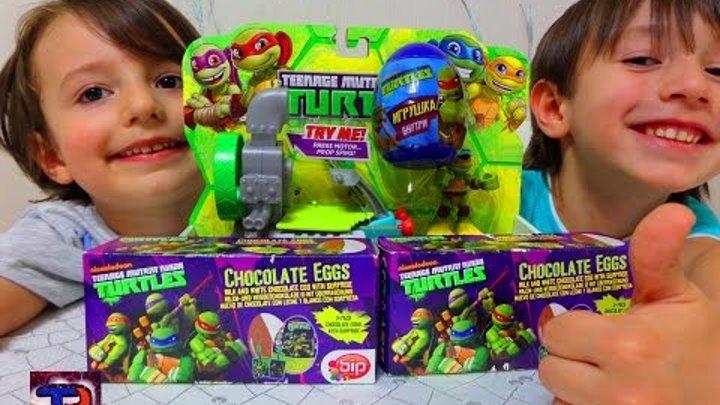 Ниндзя черепашки шоколадные яйца, игрушка Nickelodeon. TEENAGE MUTANT NINJA TURTLES CHOKOLATE EGGS