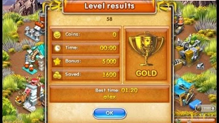 Farm Frenzy 3 American Pie (level 58) only GOLD Веселая ферма 3 Американский пирог Уровень 58 Золото
