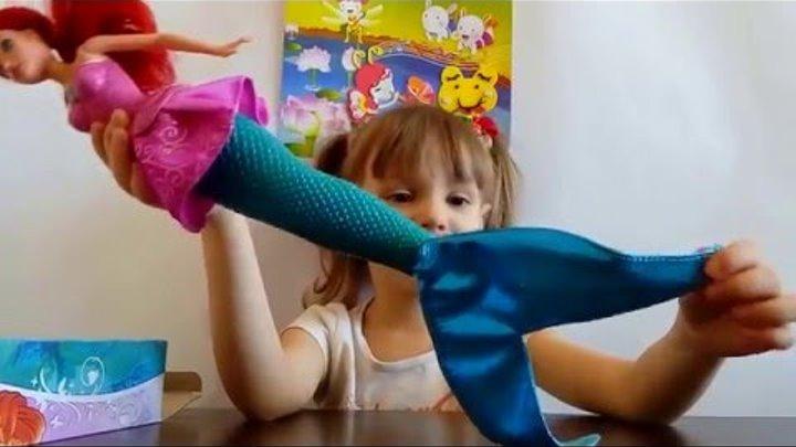 Принцесса Диснея, кукла-русалка Ариэль.Видео для детей. Disney Princess doll mermaid Ariel.