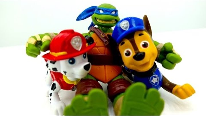 Смотреть Щенячий Патруль, Черепашки Ниндзя. Видео про игрушки. Бюро находок: чьи мечи?