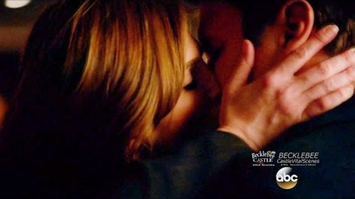 "Castle 8x15 End Scene Beckett Castle Kiss & Fight LokSat ""Fidelis Ad Mortem"" Season 8 Episode 15"