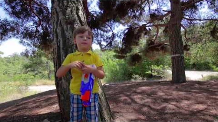 Бластер НЕРФ РАЗРУШИТЕЛЬ распаковка игрушки Blaster NERF Disruptor Elite Видео для детей