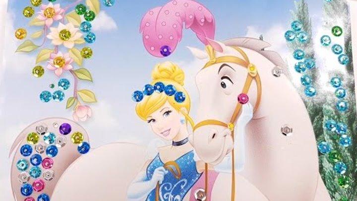 ✿ Золушка картина из Пайеток Ранок Креатив набор для творчества Cinderella paillette set