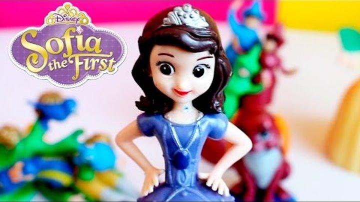 Princess Sofia The First Cartoon For Kids - Принцесса София Набор Игрушек Видео Для Маленьких